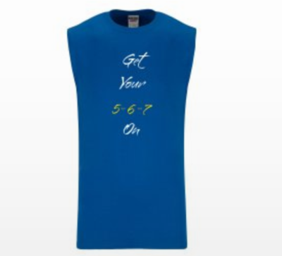 Mens 5-6-7 Tank Top ( Royal Blue Dance T-Shirt)
