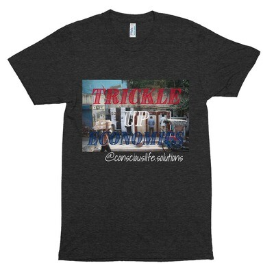Tri-Blend Trickle Up Economics Track Shirt