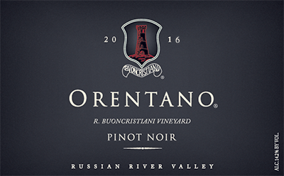 2016 Pinot Noir, R. Buoncristiani Vineyard, Russian River Valley