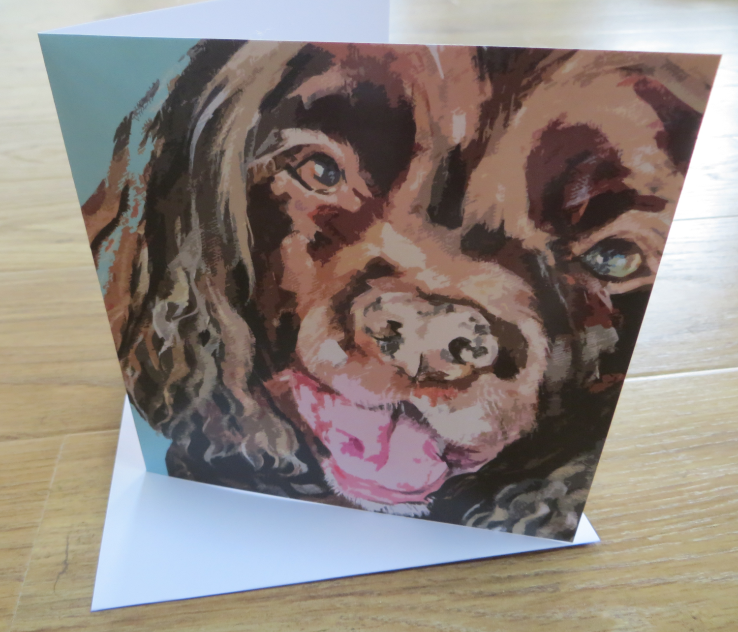 'Smiley Dog' Blank Greetings Card