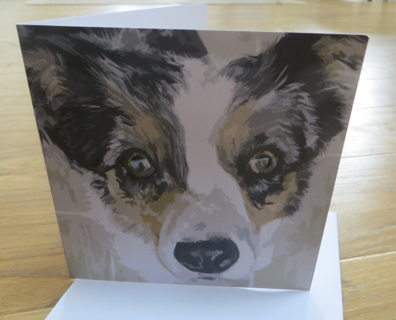 'Bright Eyed Butch' Blank Greetings Card