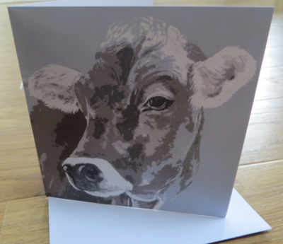 'Brown Swiss Miss' Blank Greetings Card