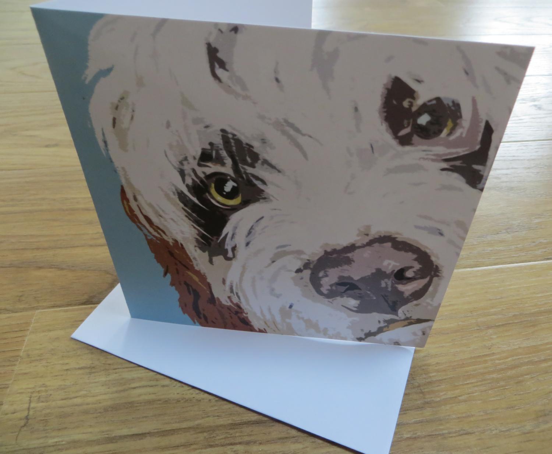 'Derek' Blank Greetings Card
