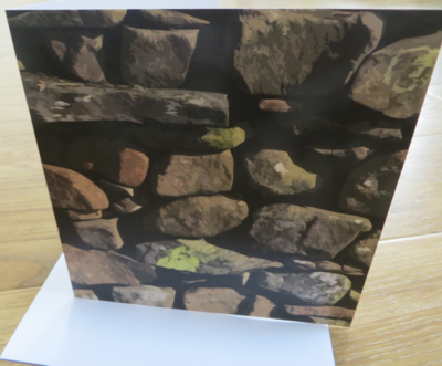 'The Lots - Dry Stone Wall' Strickley Cumbria Blank Greetings Card