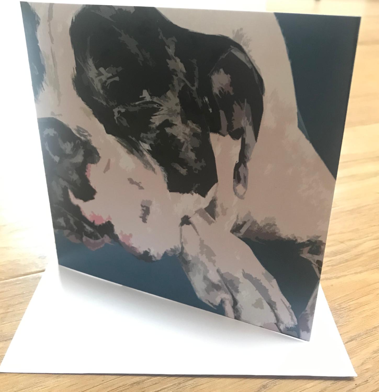 'Sleepy Head Edie' Blank Greetings Card