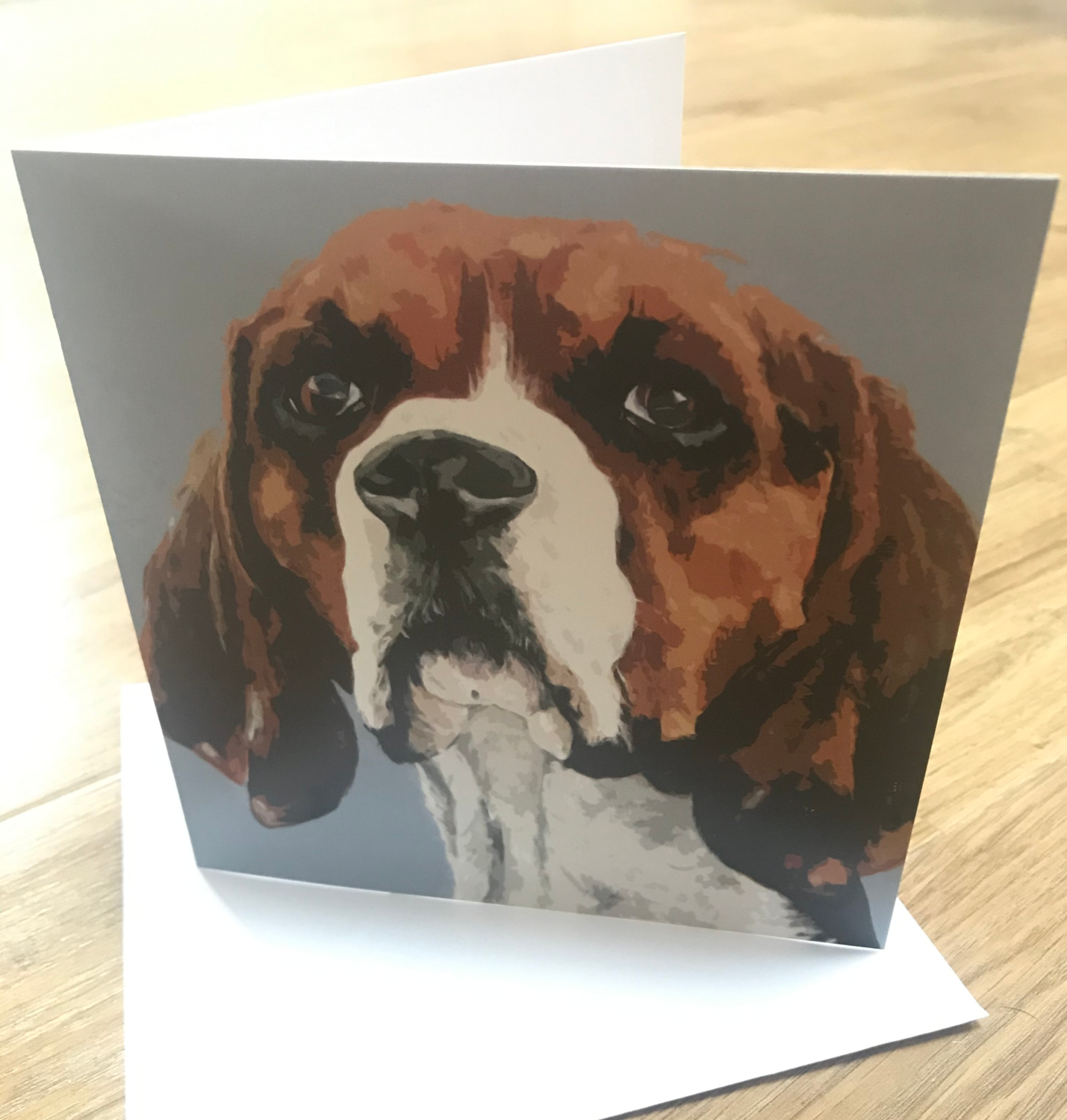 'Proud Beagle' Blank Greetings Card​