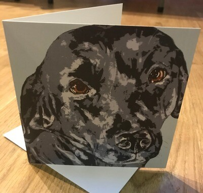 'Those Eyes!' Blank Greetings Card