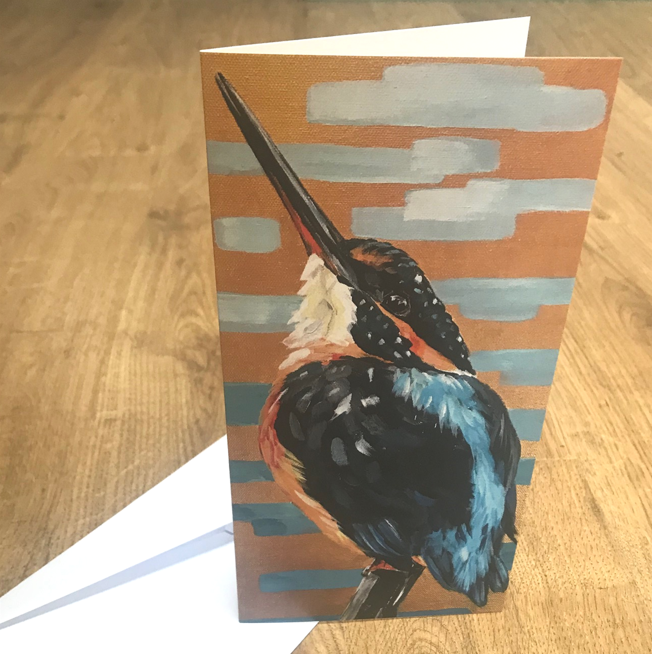 'Kingfisher -  Looking to the Sky' Blank Greetings Card