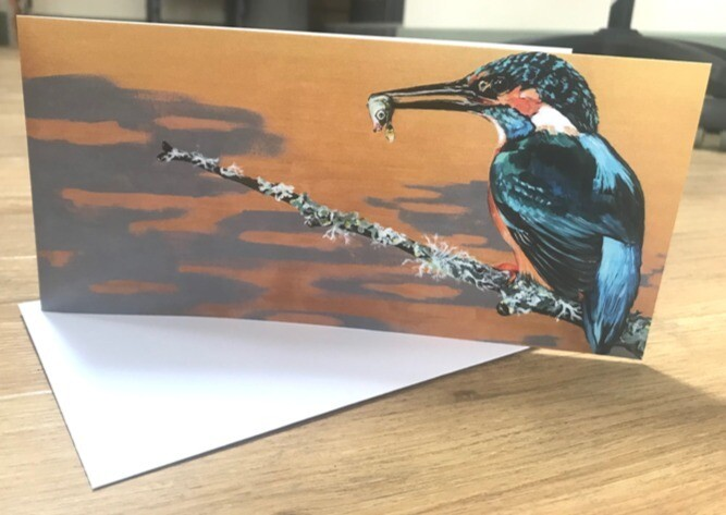 'King of Kingfishers' Blank Greetings Card