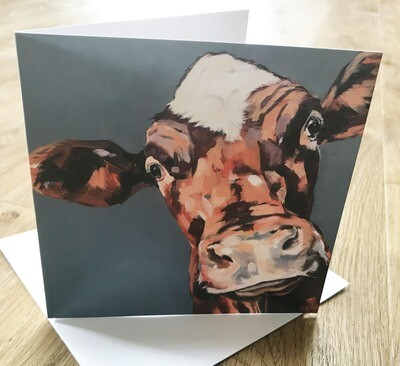 'Pansy' Dairy Shorthorn - Blank Greetings Card