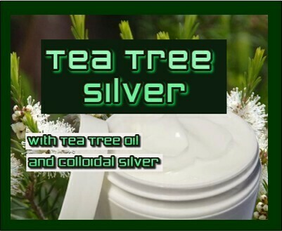 TEA TREE SILVER Tee Tree oil and Colloidal Silver  2oz