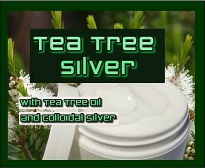 TEA TREE SILVER Tee Tree oil and Colloidal Silver  2oz