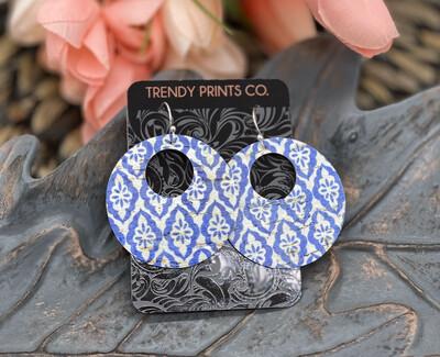 TURKISH DIAMOND TILE EARRINGS