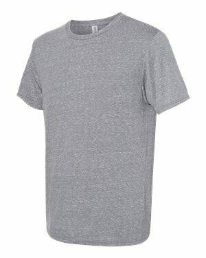 JERZEES - Snow Heather Jersey Crew T-Shirt (Screen Print - FRONT/BACK)