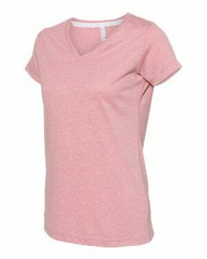 LAT - Women's Harborside Mélange V-Neck T-Shirt (Sublimation)