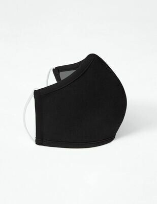 ADULT ANTIMICROBIAL FACE MASK - BLACK