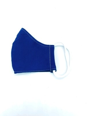 YOUTH COTTON FACE MASK -BLUE (This fabric is NOT antimicrobial material.)