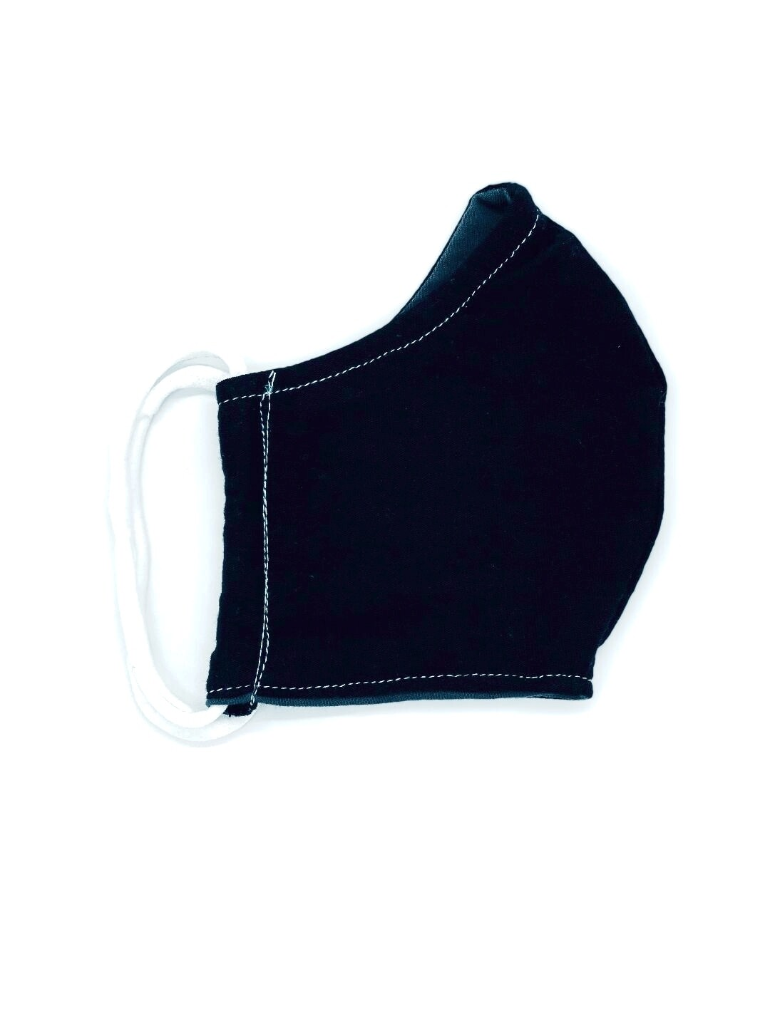 ADULT COTTON FACE MASK-BLACK (This fabric is NOT antimicrobial material.)