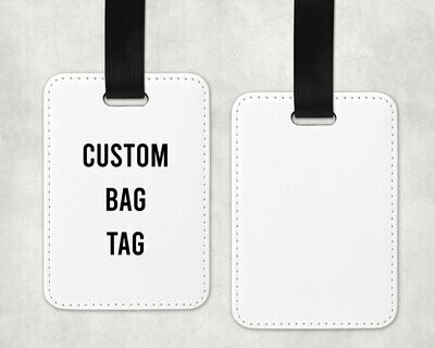 CUSTOM LEATHERETTE BAG TAG