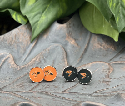 AUGUSTA ORIOLE STUD EARRINGS - 14mm