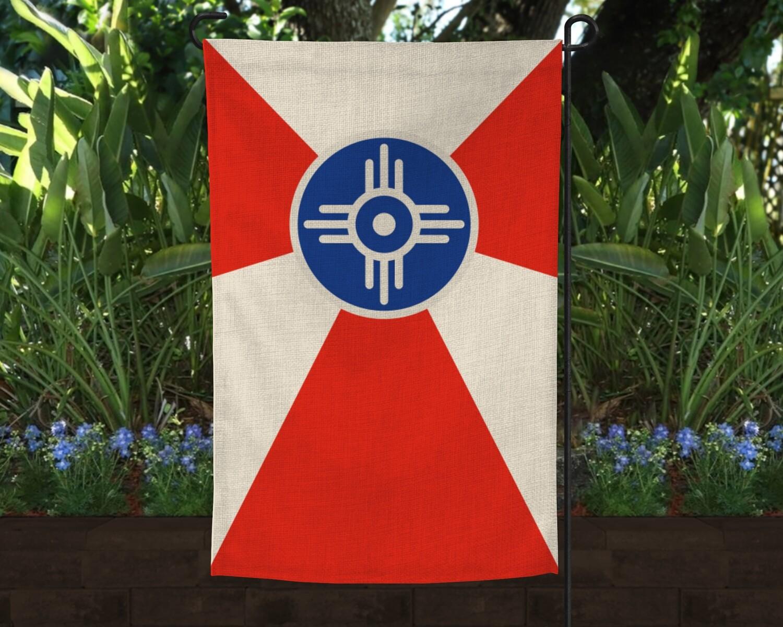 WICHITA FLAG LINEN GARDEN FLAG