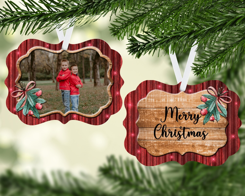 Mistletoe Photo Ornament