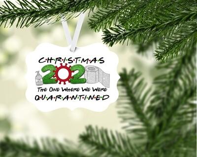 Friends Themed Quarantined Ornament