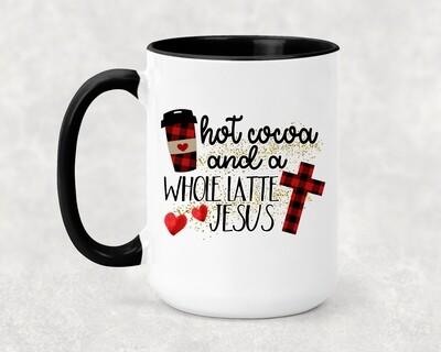 HOT COCOA AND JESUS MUG