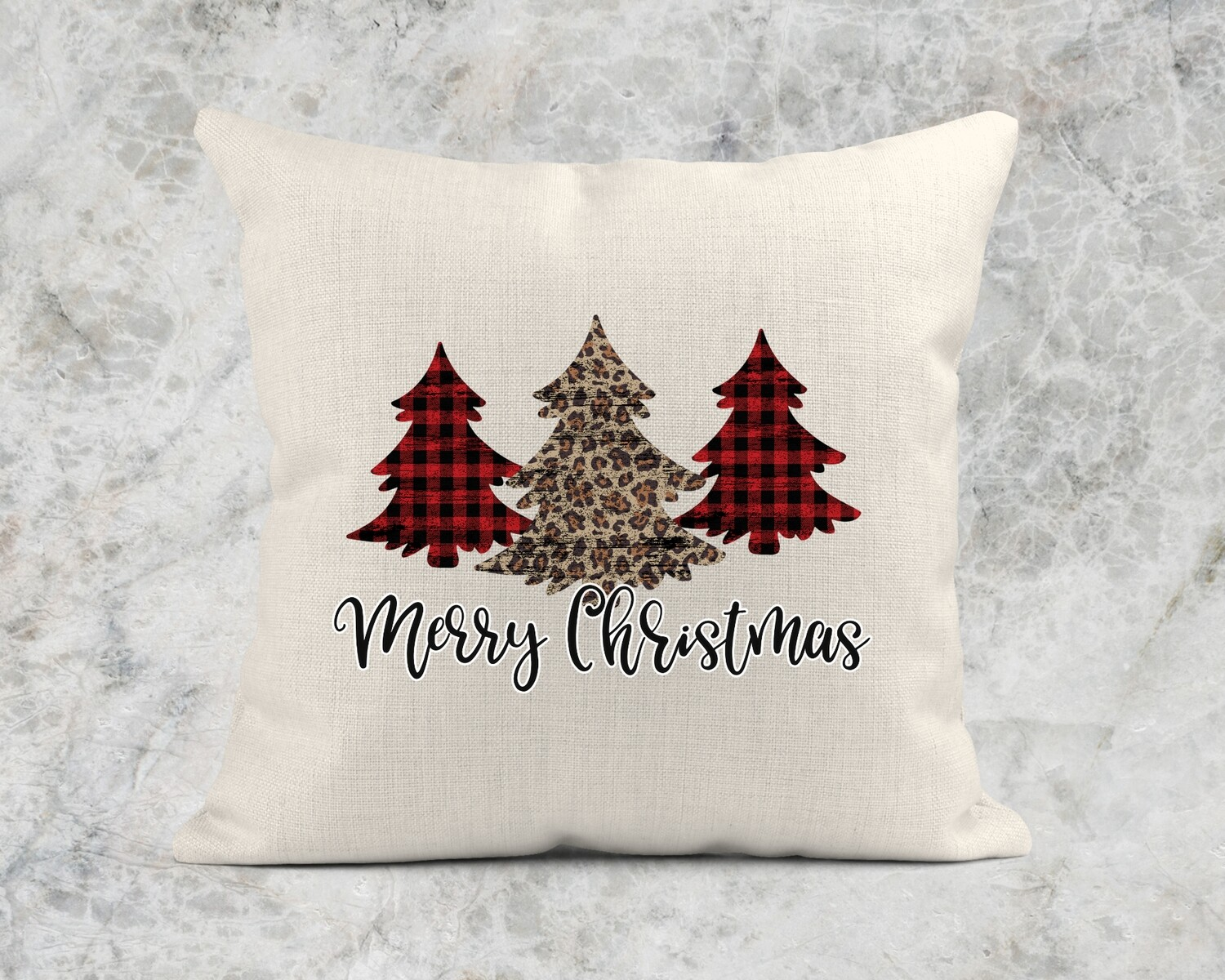 MERRY CHRISTMAS TREES PILLOW