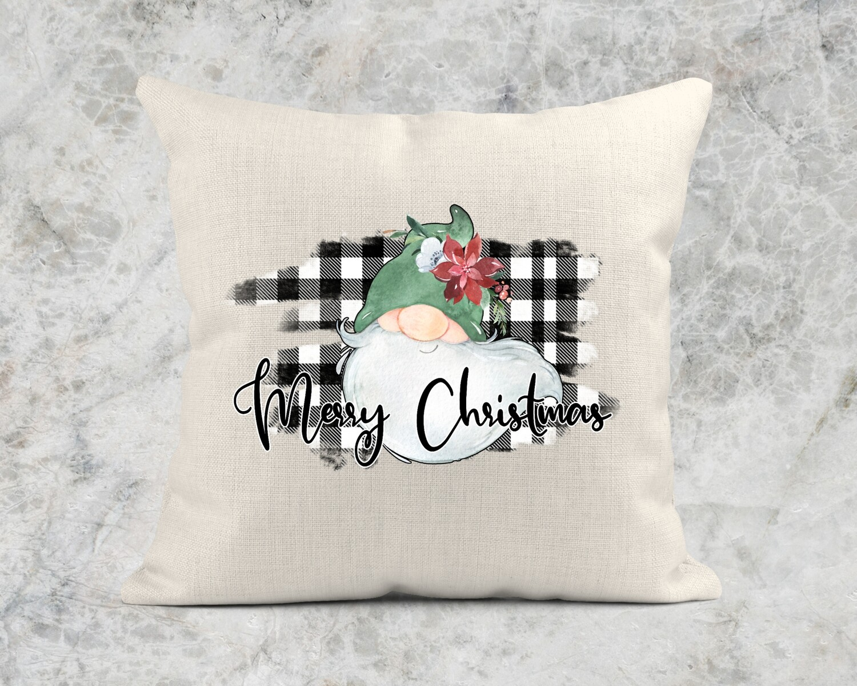 MERRY CHRISTMAS GNOME PILLOW