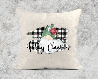 MERRY CHRISTMAS GNOME PILLOW