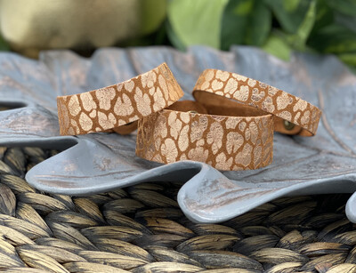 ROSE GOLD ON TOAST  SUEDE LEATHER BRACELET