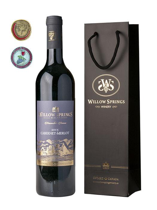 2015 CABERNET-MERLOT 柳泉酒莊赤霞珠-美乐干红葡萄酒 750ml (12 瓶/箱)