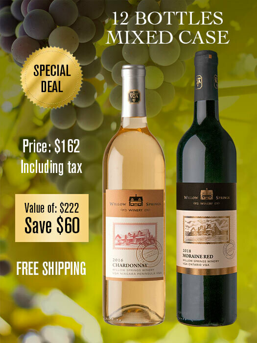 MIXED CASE DEAL: 2016 CHARDONNAY x6 & 2018 MORAINE RED x6