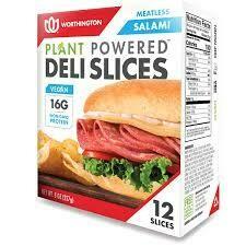 Worthington Meatless Salami Deli Slices 12 ea/box