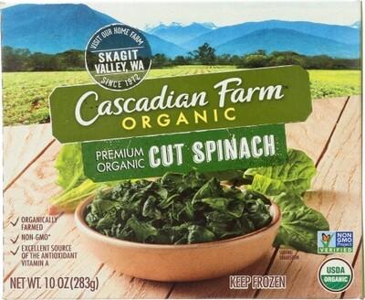 Cascadian Frozen OG VEG SPINACH Cut