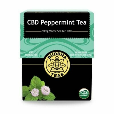 Buddha Tea Organic CBD Peppermint Tea 18 Bags