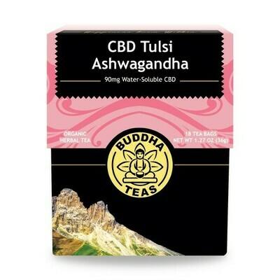 Buddha Tea Organic CBD Tulsi Ashwagandha Tea
