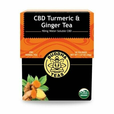 Buddha Tea Organic CBD Turmeric And Ginger Tea 18 Bags
