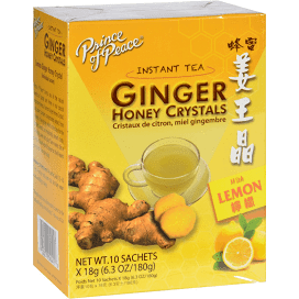 Prince Of Peace Ginger Crystals Lemon 10 Pk Box