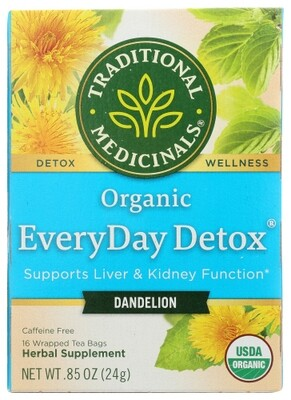 Traditional Medicinals Organic Dandelion Everyday Detox Tea