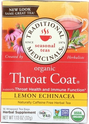Traditional Medicinal Tea- Throat Coat Lemon Echinacea