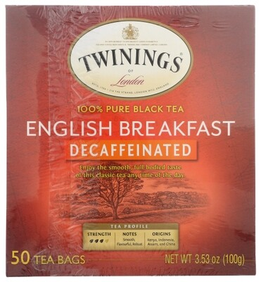 Twining's English Breakfast Decaffeinated Tea 50 Bag