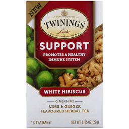 Twinnings support white hibiscus tea
