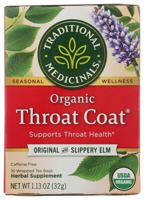 Traditional Medicinals Organic Throat Coat Tea w/ Slippery Elm