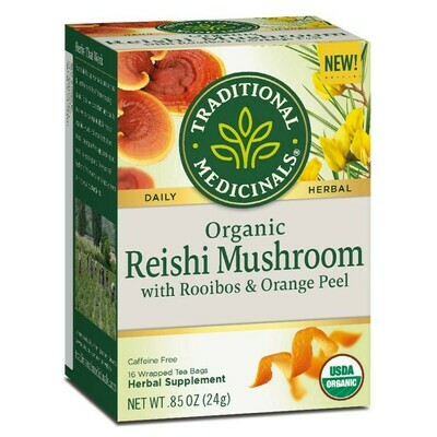 Traditional Medicinals Organic Reishi Mushroom Roobios Orange Peel Tea