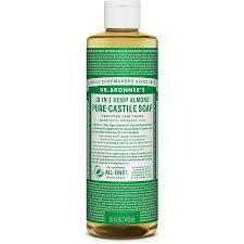 Dr Bronner Pure Hemp Almond Oil Castile Liquid Soap