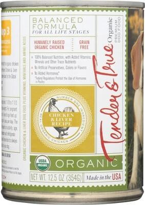 Tender & True Organic Chicken & Liver Dog Food