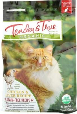 Tender & True Organic Chicken & Liver Cat Food Bag 3 lbs.