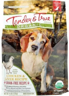 TT Organic Chicken/liver Dog Bag 4lb